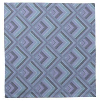 Blue-grey stripes scale pattern napkin