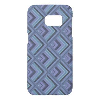 Blue-grey stripes scale pattern samsung galaxy s7 case