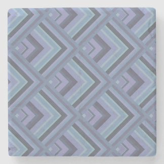 Blue-grey stripes scale pattern stone coaster