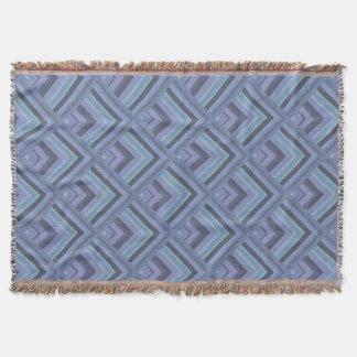 Blue-grey stripes scale pattern throw blanket