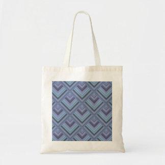 Blue-grey stripes scale pattern tote bag