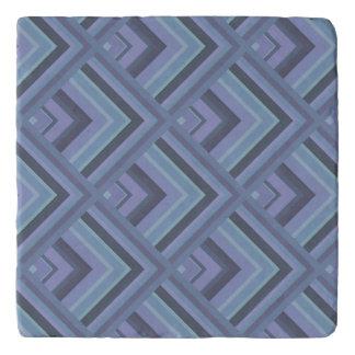 Blue-grey stripes scale pattern trivet