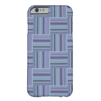 Blue-grey stripes weave pattern barely there iPhone 6 case