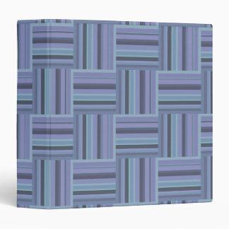 Blue-grey stripes weave pattern binder