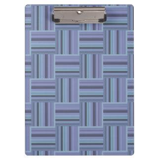 Blue-grey stripes weave pattern clipboards