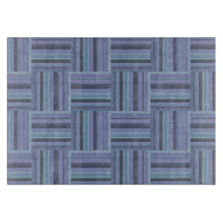 Blue-grey stripes weave pattern cutting board