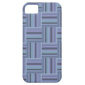 Blue-grey stripes weave pattern iPhone 5 case