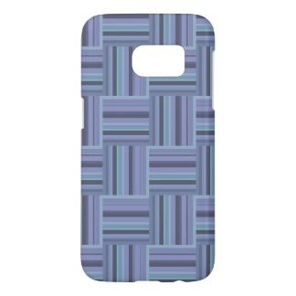 Blue-grey stripes weave pattern samsung galaxy s7 case