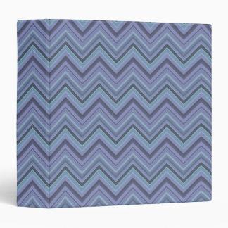 Blue-grey zigzag stripes 3 ring binder