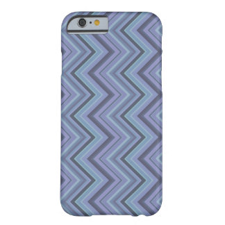 Blue-grey zigzag stripes barely there iPhone 6 case