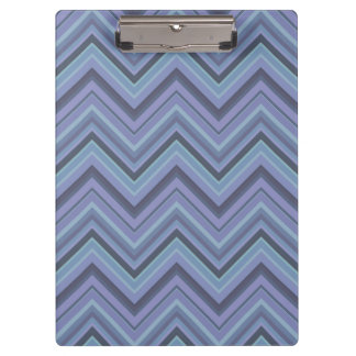 Blue-grey zigzag stripes clipboard