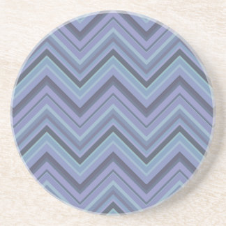 Blue-grey zigzag stripes coaster