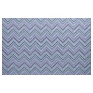 Blue-grey zigzag stripes fabric