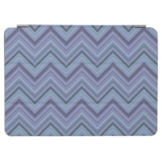 Blue-grey zigzag stripes iPad air cover