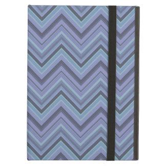Blue-grey zigzag stripes iPad air covers