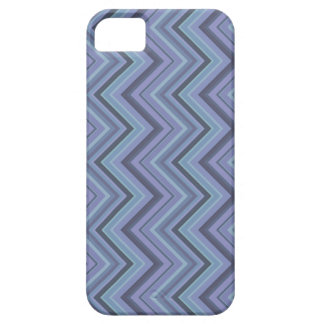 Blue-grey zigzag stripes iPhone 5 cover