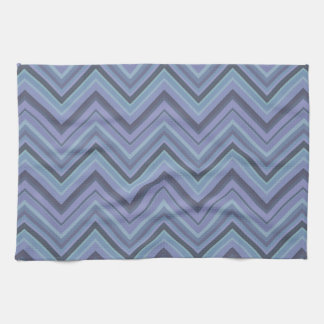 Blue-grey zigzag stripes kitchen towel