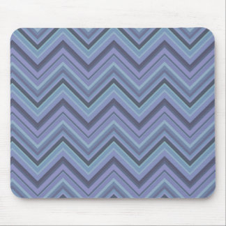 Blue-grey zigzag stripes mouse pad