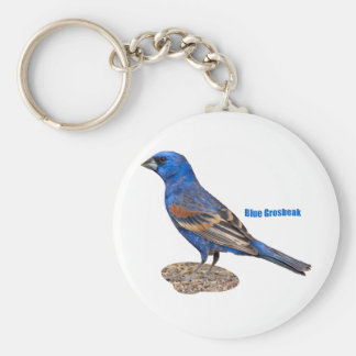 Blue Grosbeak Keychain