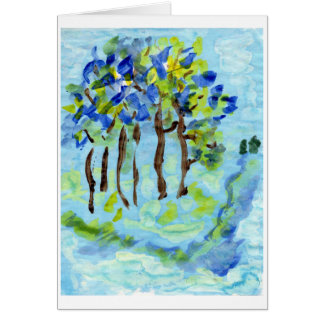 Blue grove note card