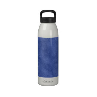 Blue Grunge Duo-tone Texture Background Reusable Water Bottle