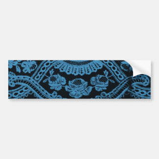 Blue Grunge Lace Bumper Sticker