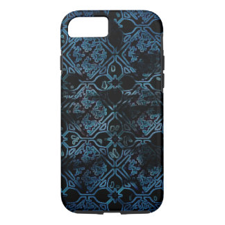 Blue Grunge Medieval Pattern iPhone 7 Case