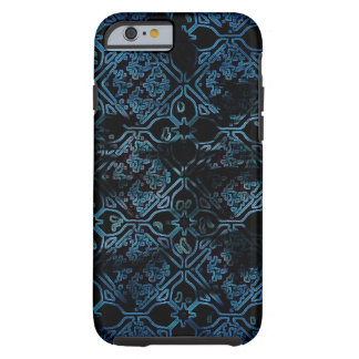 Blue Grunge Medieval Pattern Tough iPhone 6 Case
