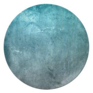 BLUE GRUNGE PARTY PLATE