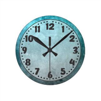Blue Grunge Wall Clock