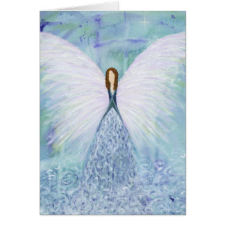 Blue Guardian Angel Card