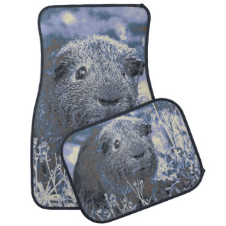 blue guinea pig car mat