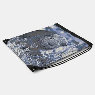 blue guinea pig drawstring bag