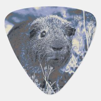blue guinea pig guitar pick