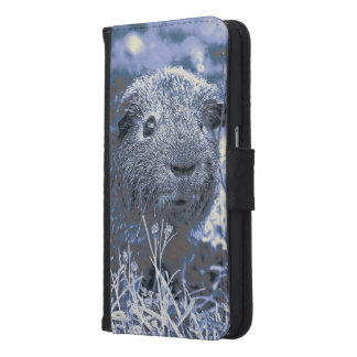 blue guinea pig samsung galaxy s6 wallet case