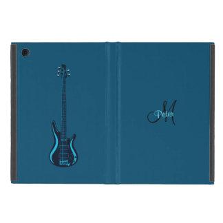 Blue Guitar Blues Monogram Music iPad Mini Case