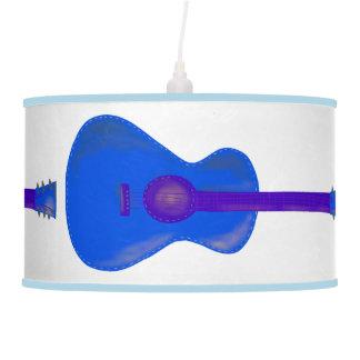 blue guitar light shade pendant lamp