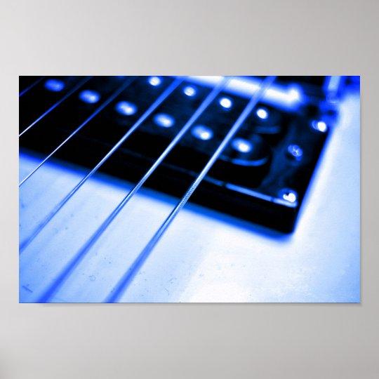 Blue Guitar Poster