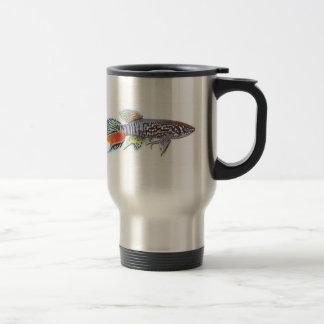 Blue Gularis Killifish Travel Mug double image
