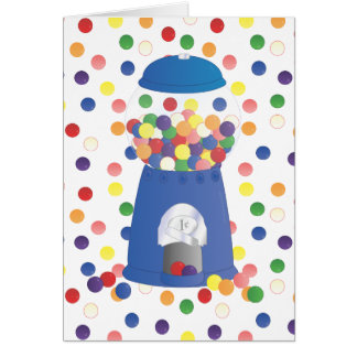 Blue Gumball Machine Card