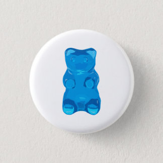 Blue Gummybear Illustration 1 Inch Round Button