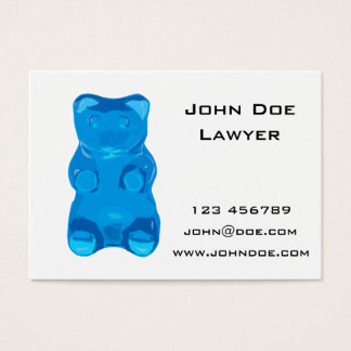Blue Gummybear Illustration Business Card