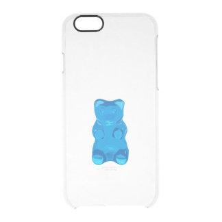 Blue Gummybear Illustration Clear iPhone 6/6S Case