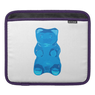 Blue Gummybear Illustration iPad Sleeve