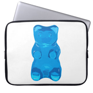 Blue Gummybear Illustration Laptop Sleeve