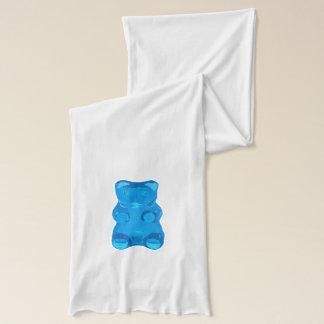 Blue Gummybear Illustration Scarf