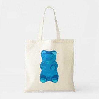 Blue Gummybear Illustration Tote Bag