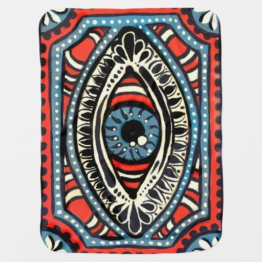 Blue Gypsy Eye Swaddle Blankets