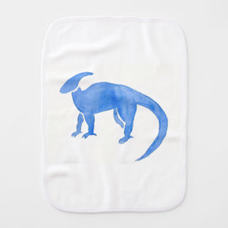 Blue Hadrosaur Burp Cloth