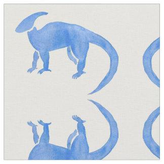Blue Hadrosaur Fabric